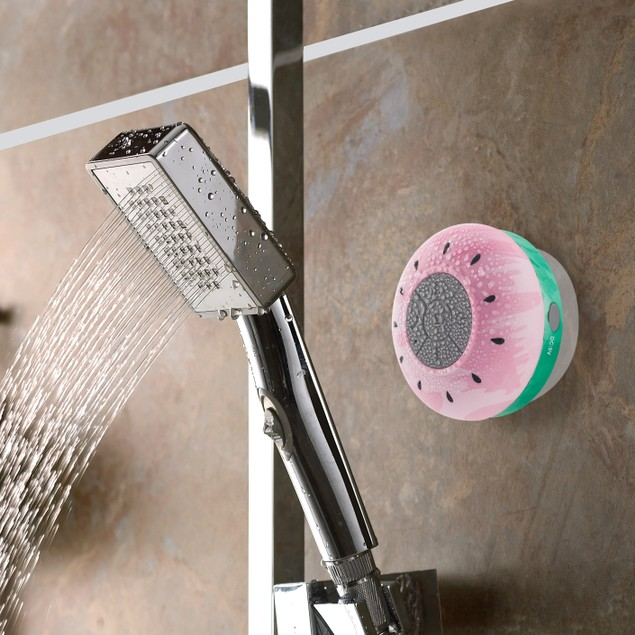 2-Pack Liger Water Resistant Bluetooth Shower Speaker with Built-in Mic