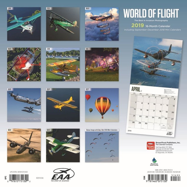 Airplanes Wall Calendar, Airplanes by Calendars