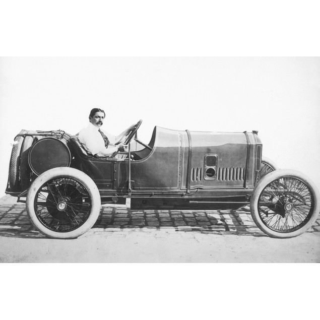 Race Car, 1914. /Ngeorges Boillot Of France Behind The Wheel Of The Peugeot