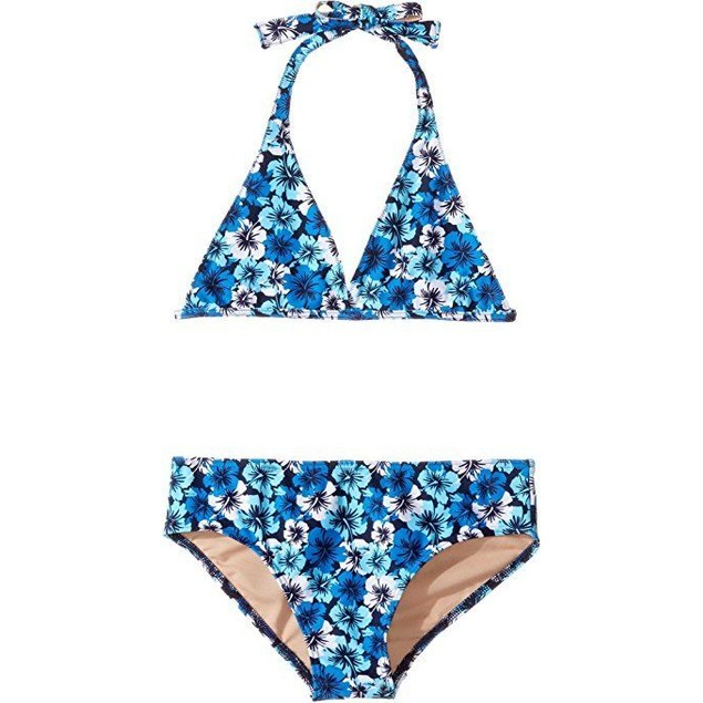 Toobydoo Baby Girl's Hawaiian Flower Bikini (Infant/ Us: 13/14