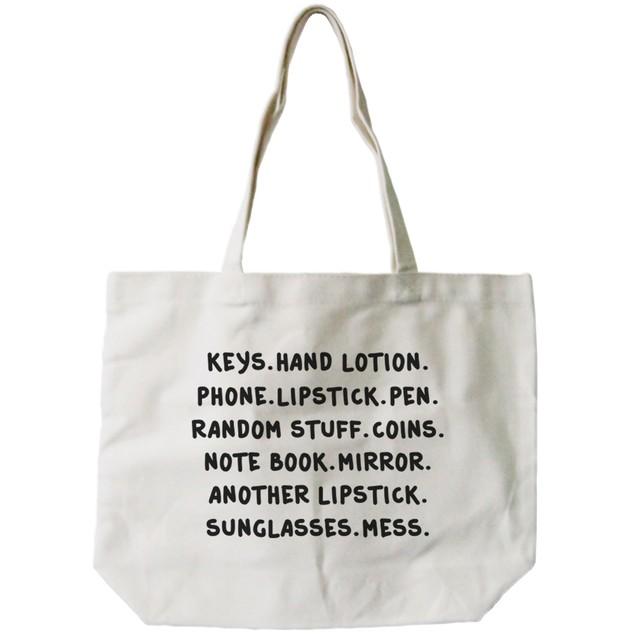 Belongings Canvas Tote Bag Natural