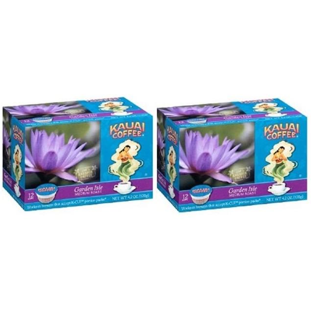 Kauai Coffee Garden Isle Keurig K-Cups 2 Box Pack