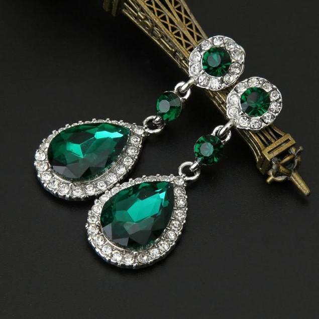 Rhinestone Style Wedding Earrings For Women