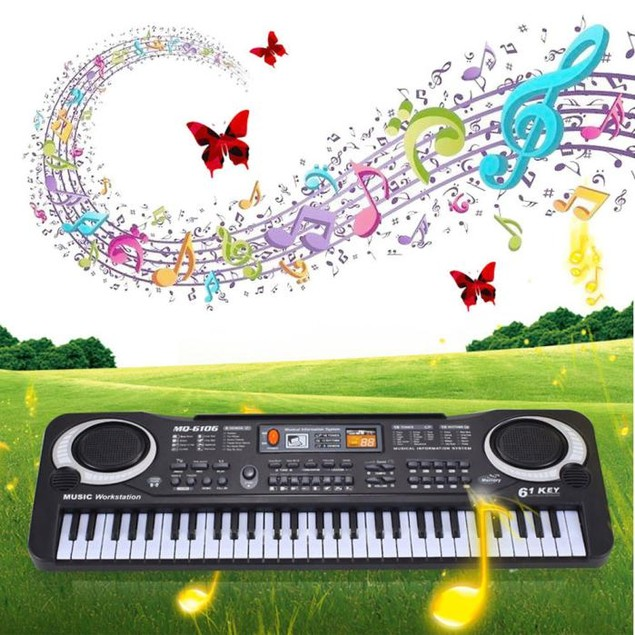 61-Key Electronic Keyboard Musical Instrument