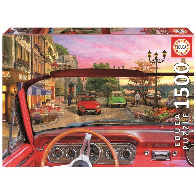 Paris in a Car 1500 Piece Puzzle, 1,500 Piece Puzzles by John N. Hansen
