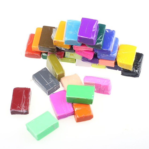 32 Piece DIY Malleable Fimo Polymer Modelling Soft Clay Blocks Plasticine