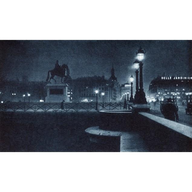 France: Paris, C1920. /Nthe Pont Neuf (New Bridge) At Night. Photograph, C1