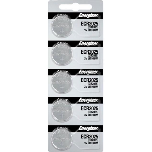 Energizer CR2025 3-Volt Lithium Coin Cell Batteries (5 Batteries)