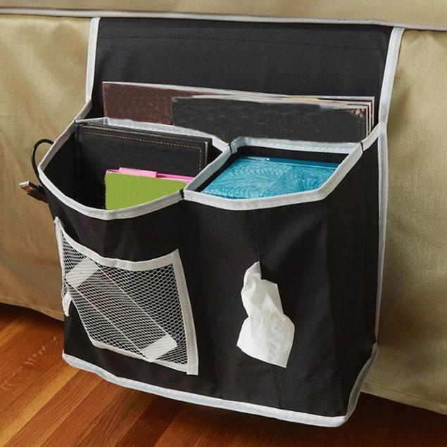 Pocket Bed Side Storage Mattress Book Tv Remote Caddy Organizer Magazine