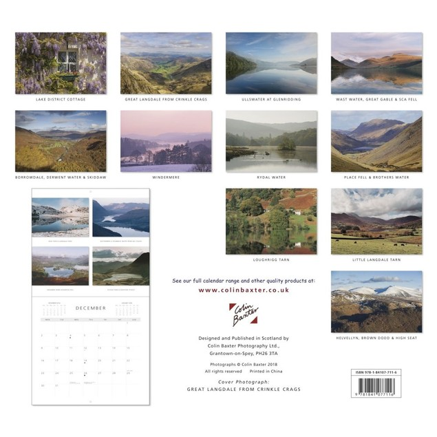 Lake District Wall Calendar, Scotland by Colin Baxter Photography