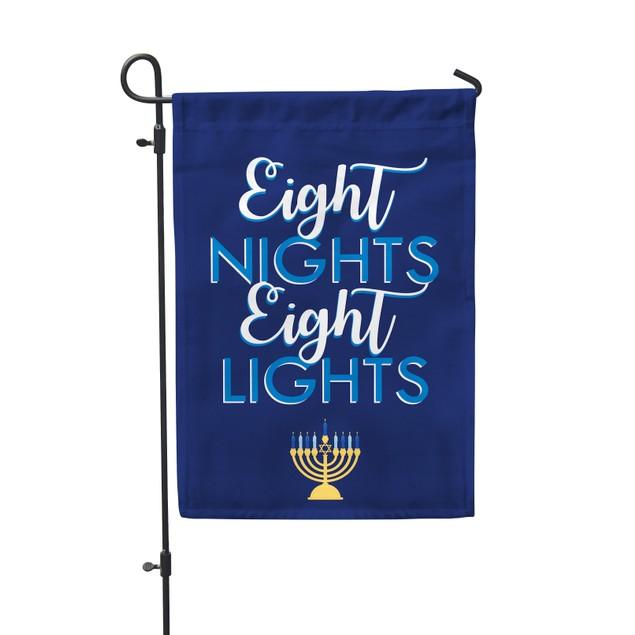 Eight Nights Eight Lights Garden Flag