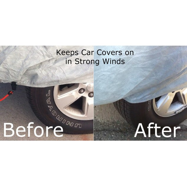 Magicfly Car Cover Straps Wind Protector Gust Guard Cable & Lock Kit