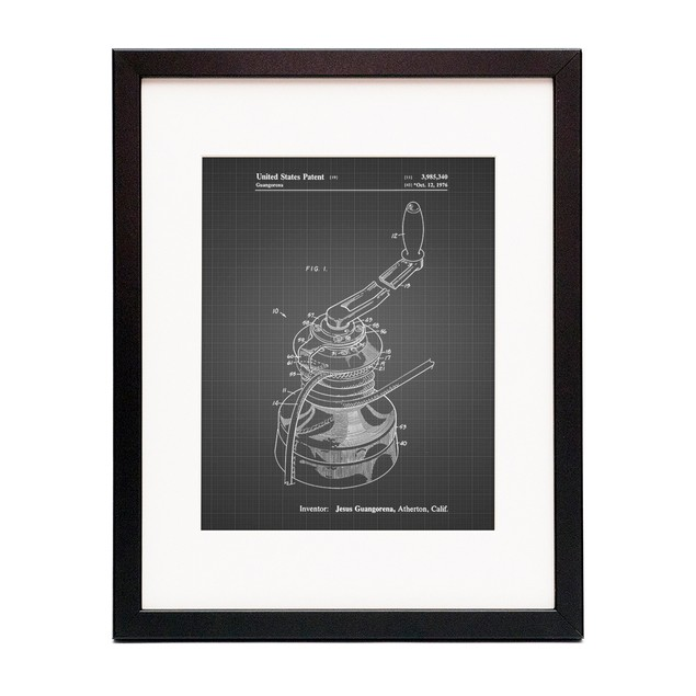 Sailboat Winch Patent Poster