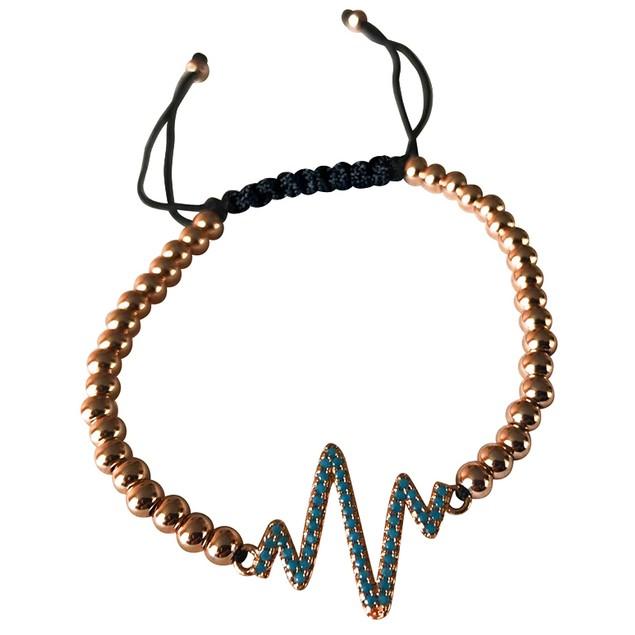 Macrame Heartbeat  Bracelet