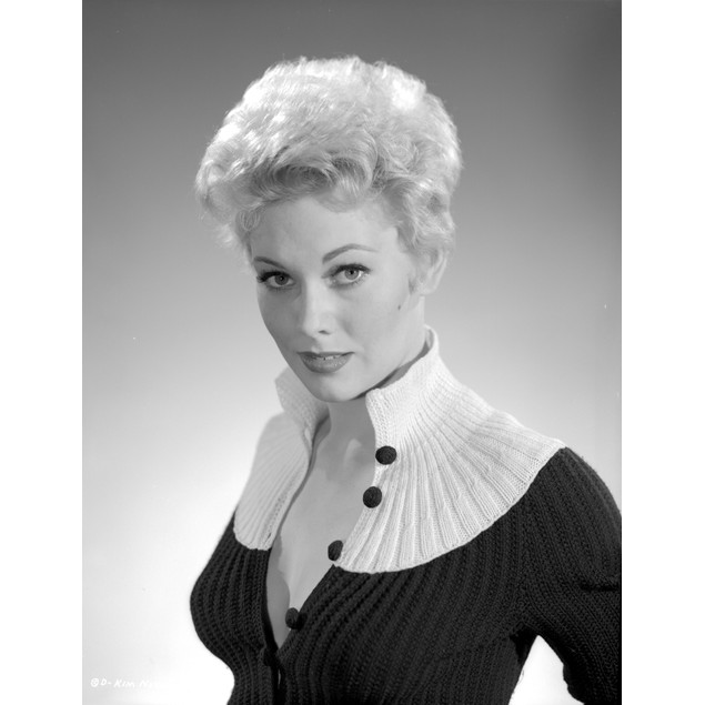 Kim Novak in Black and White Gown Portrait Poster