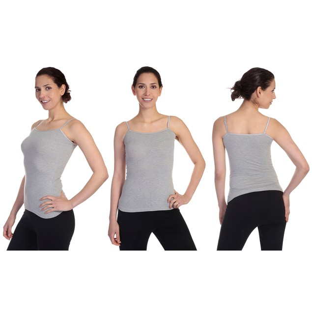 6-Pack Women's Cotton-Blend Adjustable Spaghetti Strap Tank Tops (S-3X)