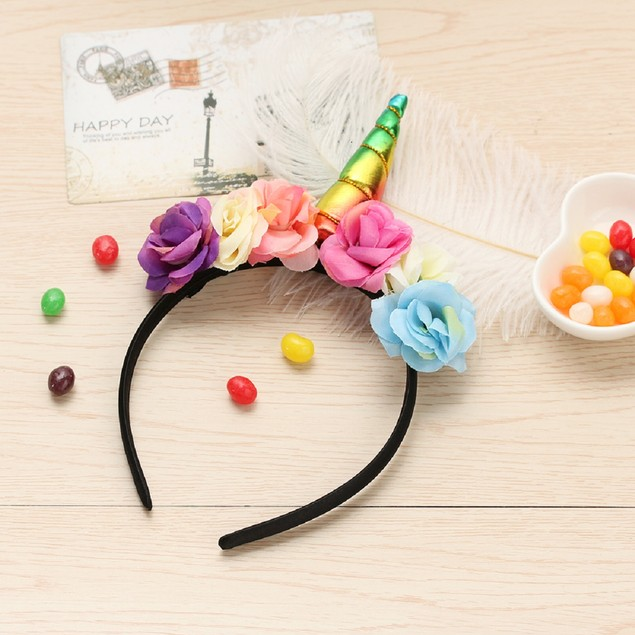 Unicorn Rose Headband