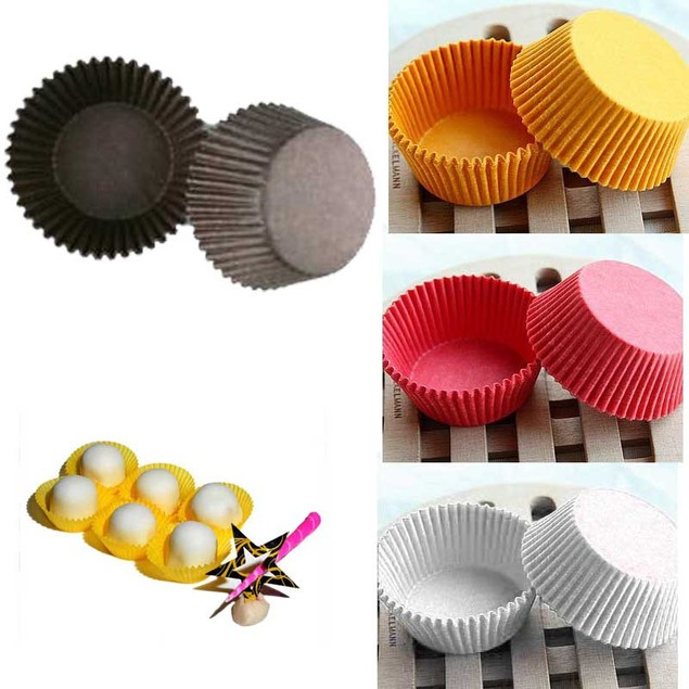 480 Pieces Paper Cupcake Baking Liners - Assorted Colors