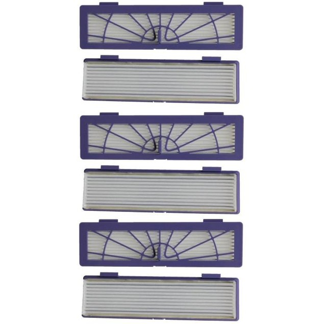 6PC Filter + 3PC Side Brushes Replacement for Neato Botvac 70e 75 80 85