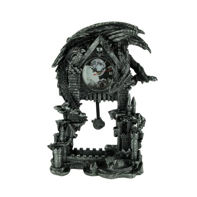 Evil Dragon Pentagram Pendulum Mantel Clock Shelf Clocks
