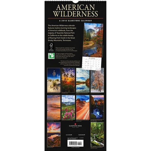 American Wilderness Poster Calendar, Scenic America by Gladstone Media