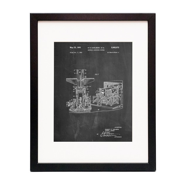 Missile Launching System patent 1961 Wall Art Poster