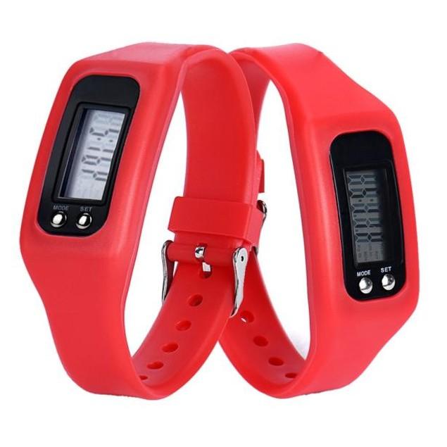 Digital LCD Pedometer Run Step Walking Calorie Counter Watch Bracelet