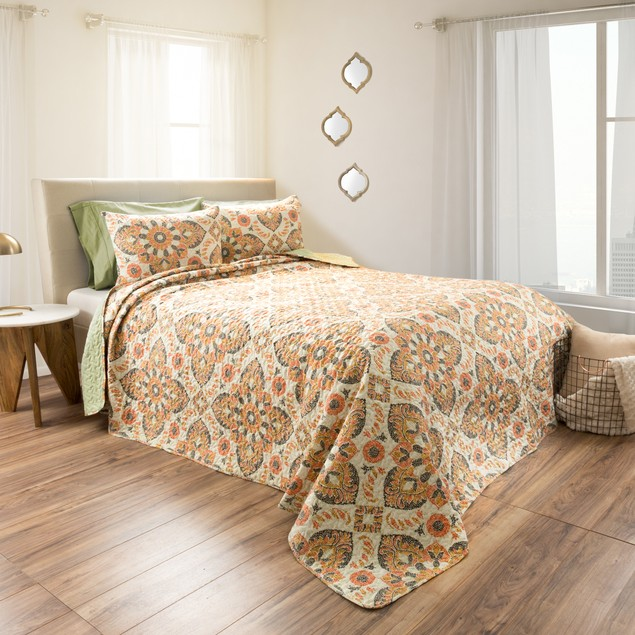 Lavish Home 2-Piece Printed Quilt Set