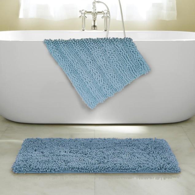 "2-Pack: 17"" x 24"" Ultra-Soft Anti Slip Bubbles Bath Mats"