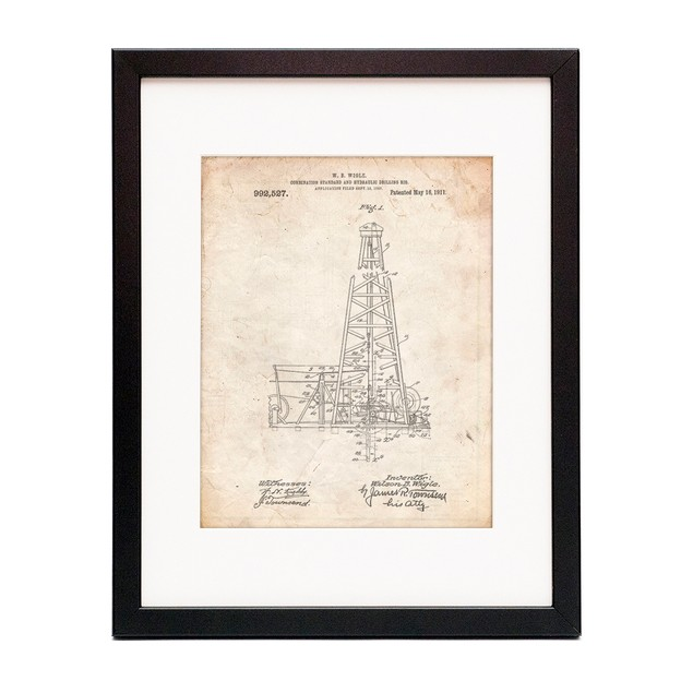 Hydraulic Drilling Rig Patent Poster