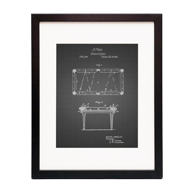 Pool Table Patent Poster