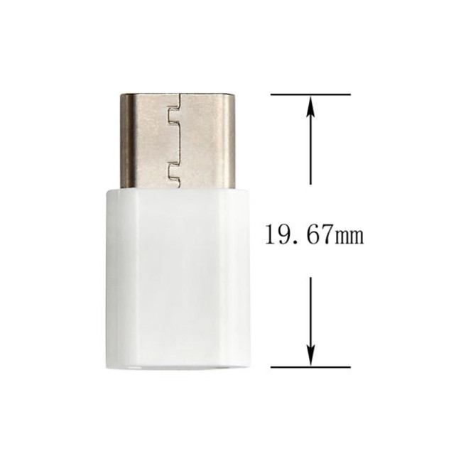 10PC USB-C To Micro USB Data Charging Adapter For Huawei P9