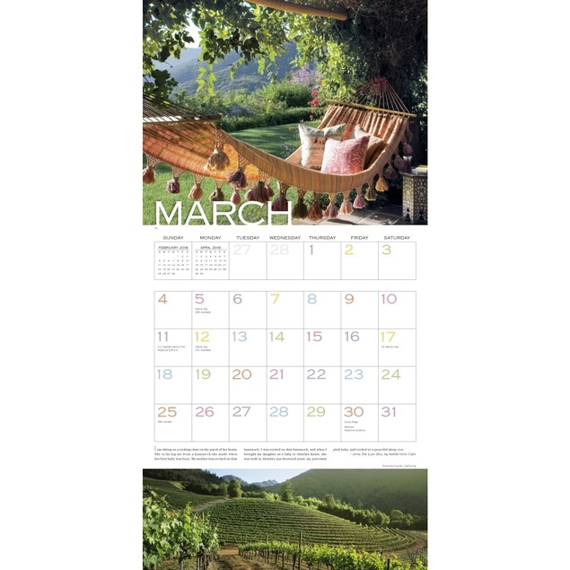 Out On The Porch Wall Calendar, Cottage Living by Calendars