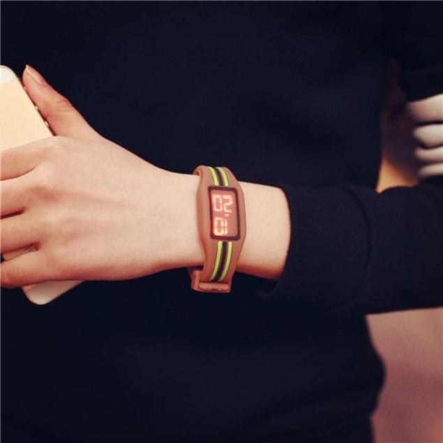 Striking Silicone Red LED Sport Bracelet Touch Digital Wrist Watch