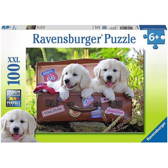 Traveling Pups 100 Piece Puzzle, 100 Piece Puzzles by Ravensburger
