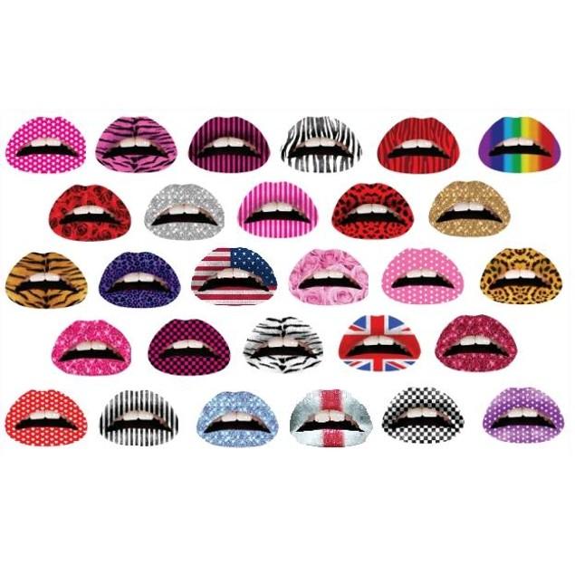 Lip Tattoo Stickers (50 Patterns)