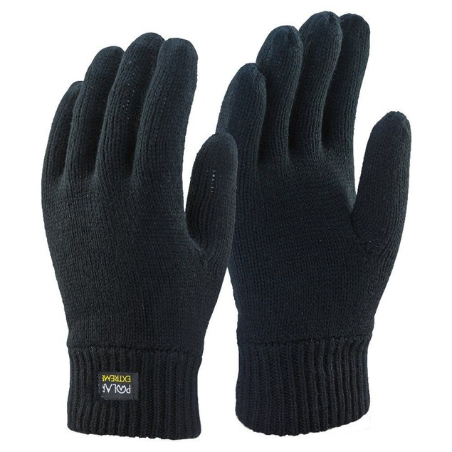 Polar Extreme Winter Gloves Men's Knit Insulated Thermal Insulation