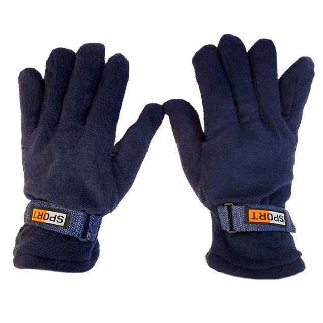 3 Pack Mens Fleece Lined Adjustable Warm Winter Gloves