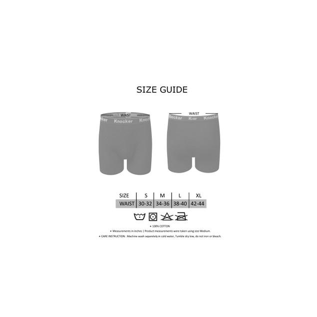 4 Pack Knocker Men's 100% Cotton Boxer Briefs (S-3X)