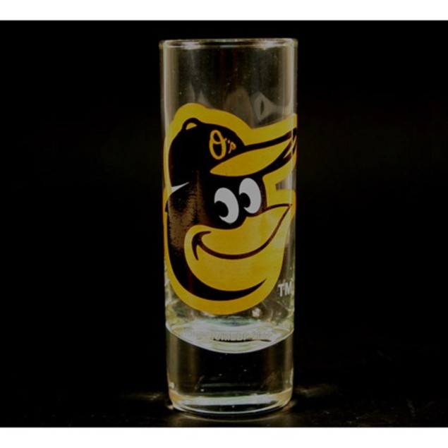 "Baltimore Orioles MLB ""Hype"" Tall Shot Glass"