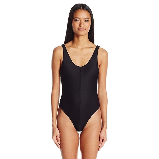 RVCA Women's Coast Side One Piece Swimsuit, Black, sz M