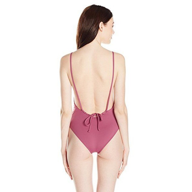 Billabong Women's Sol Searcher One Piece Swimsuit, Sweet Plum,  SZ MED