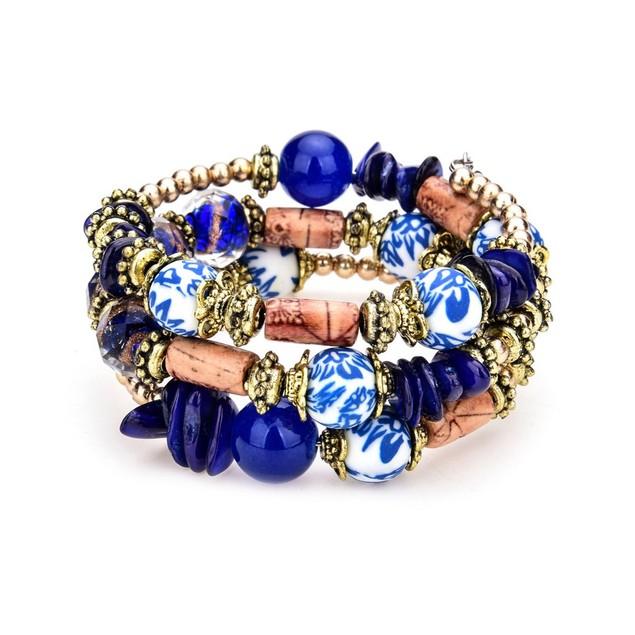 Novadab China Teacup Layered Bracelet