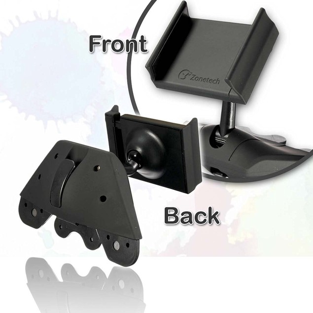 Zone Tech Universal 360 Rotating CD Slot Mount Car Holder Cradle For Cell