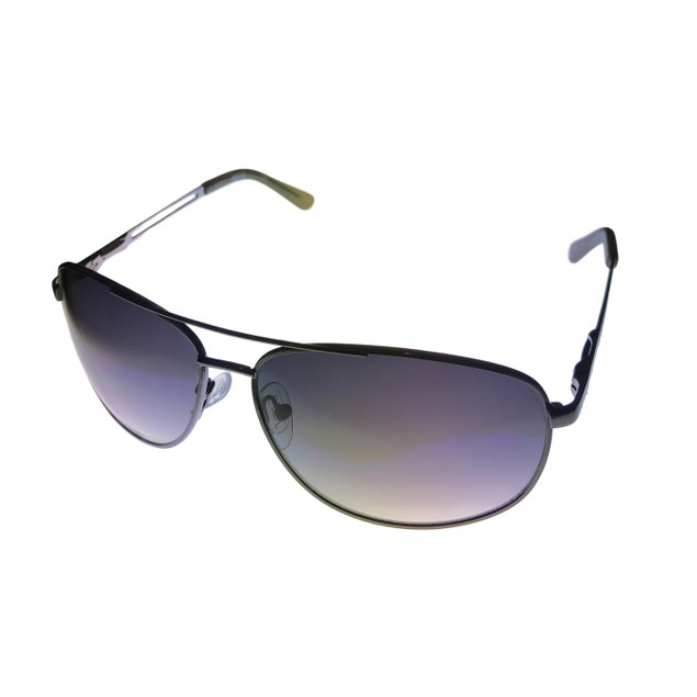 Kenneth Cole Reaction Mens Gunmetal Sunglass Metal Aviator, KC1069 731