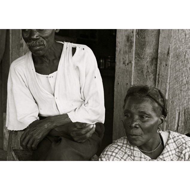 African American elderly husband & wife Poster