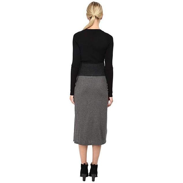Neil Barrett Women's Needle Long Dress Black/Slate 40 (US 4)