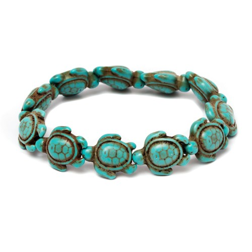 Handmade Genuine Turquoise Hawaiian Sea Turtle Bracelet