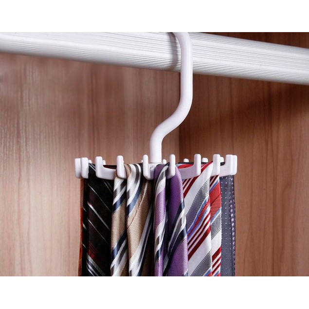 Rotating 20 Hook Neck Tie Holder
