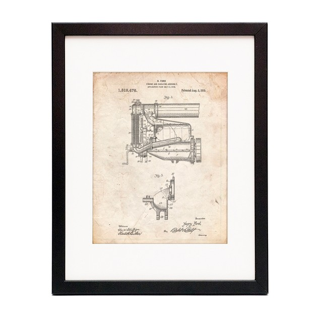 Model T Engine and Radiator Assembly Poster